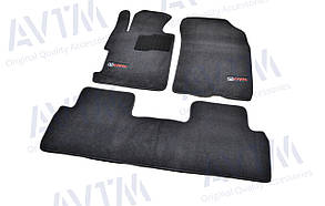 Килимки в салон ворсові AVTM для Honda Civic (2006-2011) SD 4D/Хонда Цівік Седан /Чорні Premium BLCLX1201