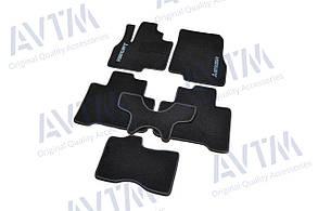 Коврики в салон ворсовые для Митсубиси/ Mitsubishi Grandis (2003-2011) /Чёрные