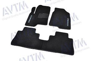 Коврики в салон ворсовые для Шевроле/ Chevrolet Captiva (2006-) /Чёрные