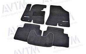 Килимки в салон ворсові AVTM для Kia Sportage (2010-2015)/КІА Спортейдж  /Чорні Premium BLCLX1281