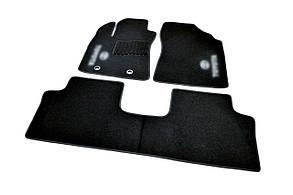 Килимки в салон ворсові AVTM для Тойота Авенсис /Toyota Avensis(2009-) /Чёрные 3 шт BLCCR1606