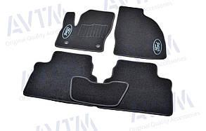 Килимки в салон ворсові AVTM для Ford Kuga (2008-2011)/Форд Куга /Чорні,овал.крепл 5шт BLCCR1156