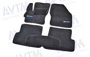 Килимки в салон ворсові AVTM для Mazda/Мазда 3 (2003-2009) /Чорні Premium BLCLX1308
