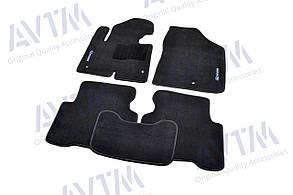 Килимки в салон ворсові AVTM для Hyundai Santa Fe (2012-)/Хюндай Санта фе /Чорні Premium BLCLX1236
