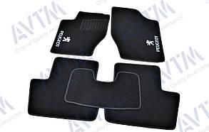 Килимки в салон ворсові AVTM для Пежо 307/Peugeot 307 (2001-2008) /Чорні 5шт