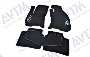 Килимки в салон ворсові AVTM для Ford Mondeo (2000-2006)/Форд Мондео /Чорні, 5шт
