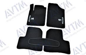 Коврики в салон ворсовые для Пежо 206/ Peugeot 206 (1998-2005/2006-) /Чёрные 5шт