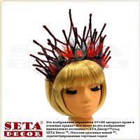 Корона Огненная принцесса на обруче карнавальная красная