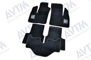 Килимки в салон ворсові AVTM для Fiat Doblo I (2000-) 5мест /Фіат Добло/Чорні