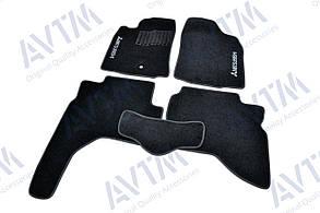 Килимки в салон ворсові AVTM для Mitsubishi Pajero Sport (1996-2008) /Чорні 5шт