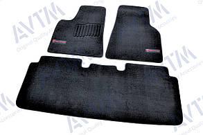 Килимки в салон ворсові AVTM для Tesla Model S (2012-)/Тесла /Чорні Premium