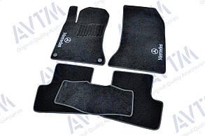 Килимки в салон ворсові AVTM для Mercedes/Мерседес W246 (2011-) /Чорні