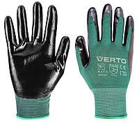 """Перчатки садовые Verto, нитриловое покрытие, размер 9 """""""