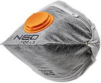 Пилезахисний напівмаска NEO складна, з активованим вугіллям FFP1, з клапаном, 3 шт