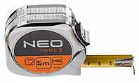 Рулетка NEO, сталева стрічка 5 м x 19 мм