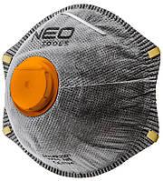 Пилезахисний напівмаска NEO з активованим вугіллям FFP2, з клапаном, 3 шт.