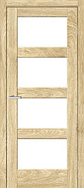 Двери межкомнатные ОмиС Рино 10 стекло сатин NL дуб Саванна, 600