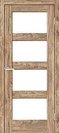 Двери межкомнатные ОмиС Рино 10 стекло сатин NL дуб Ориндж, 900