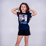 Футболка молодежная для девочки Free Girl, лимонная, красная, синяя, фото 5