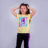 Футболка молодежная для девочки Free Girl, лимонная, красная, синяя, фото 6