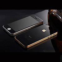 Защитная пленка Стекло iPhone 4 f/b Mirror Black
