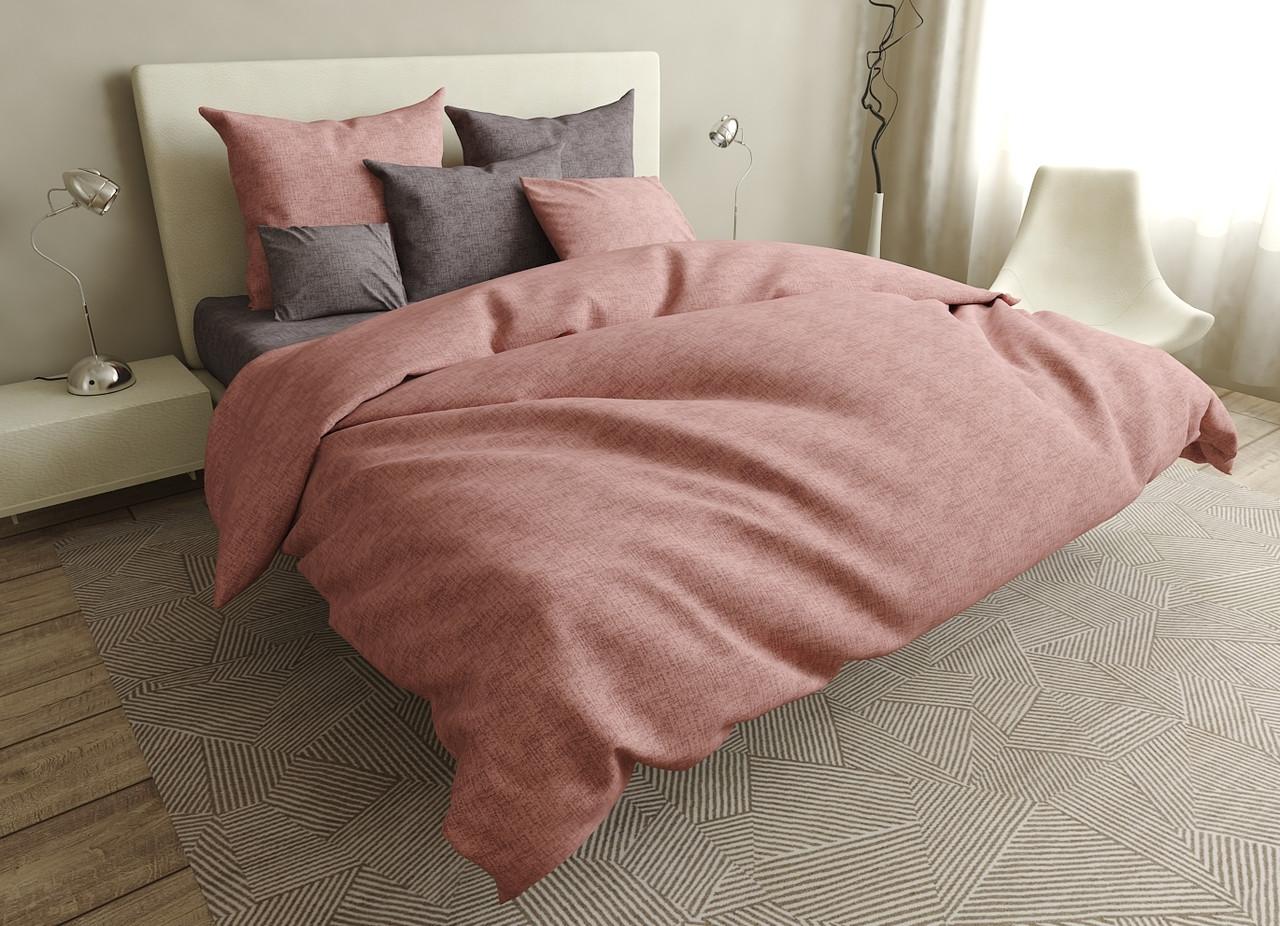 Двуспальный комплект постельного белья евро 200*220 ранфорс  (17036) TM KRISPOL Украина