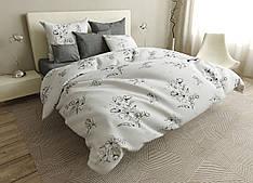 Двуспальный комплект постельного белья евро 200*220 ранфорс  (17026) TM KRISPOL Украина