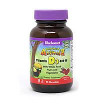 Вітамін D3 400IU для Дітей, Смак Ягід, Rainforest Animalz, Bluebonnet Nutrition, 90 жувальних цукерок