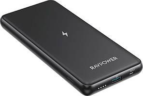 Повербанк RavPower Power Bank 10000mAh Wireless Charger 10W Black (RP-PB084)