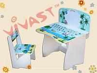 Детская регулируемая парта со стульчиком Кораблики Vivast МV-902-3