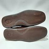 Чоловічі шкіряні туфлі літні, прошиті (Валкер) перфорація коричневі, фото 8