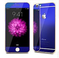 Защитная пленка Стекло iPhone 4 f/b Mirror Blue