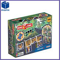 Магнитные кубики Geomag MAGICUBE JungleAnimals + 9 cards