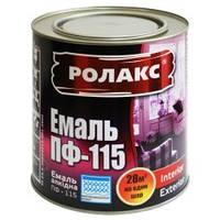 Эмаль алкидная ПФ-115 0,9/2,8/0,25 кг Белая (РОЛАКС)