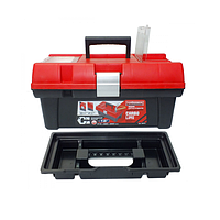 """Ящик для інструментів з лотком 312х167х130мм, 12"""" металевий замок Haisser Staff Carbo (105858)"""