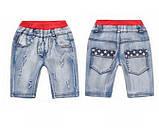 Летние лёгкие джинсовые шорты для мальчика, фото 3