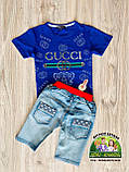 Летние лёгкие джинсовые шорты для мальчика, фото 4