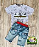 Летние лёгкие джинсовые шорты для мальчика, фото 5