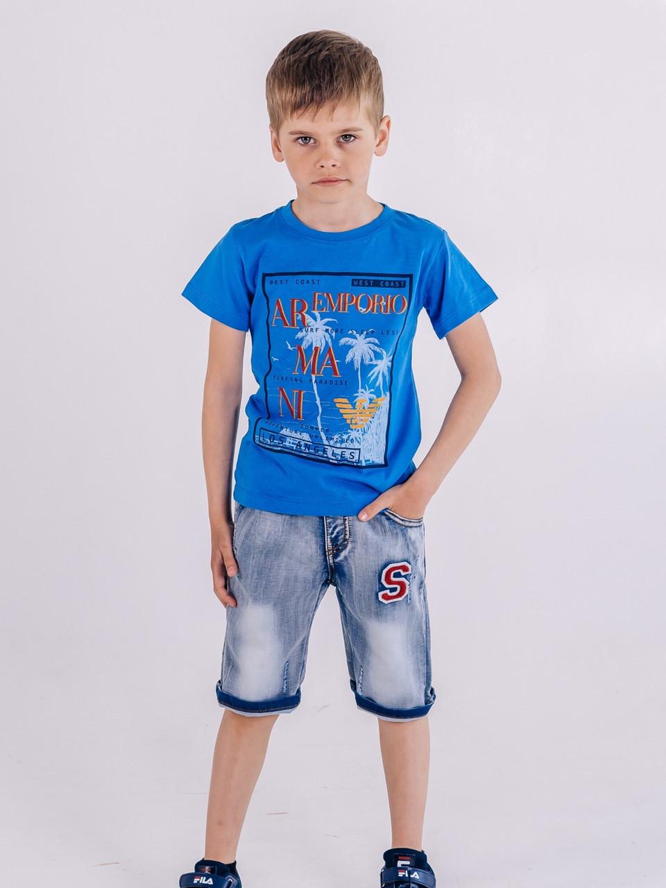 Стильные джинсовые шорты для мальчика