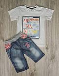 Стильные джинсовые шорты для мальчика, фото 5