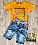 Стильные джинсовые шорты для мальчика, фото 6