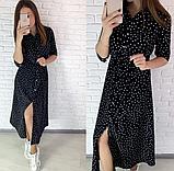 Платье рубашка миди в горошек FG1588, фото 3