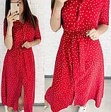 Платье рубашка миди в горошек FG1588, фото 2