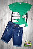 Модные рваные джинсовые шорты для мальчика 2-3 года, фото 2