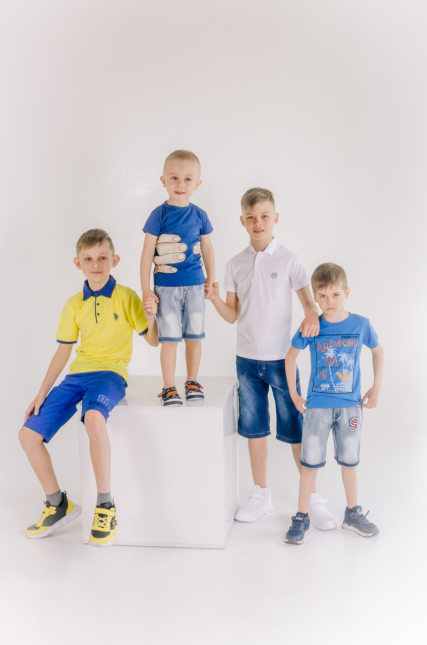 Модные рваные джинсовые шорты для мальчика 2-3 года