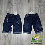 Модные рваные джинсовые шорты для мальчика 2-3 года, фото 3
