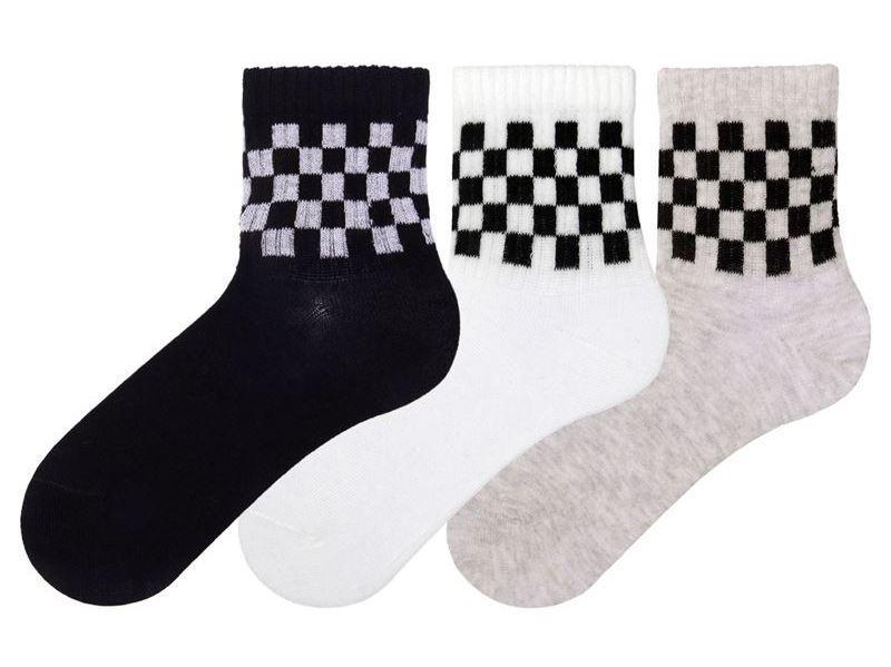Набор 3 шт. Детские носки их хлопка с рисунком Bross полоска