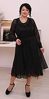 Торжественное черное платье на подкладке 52, 54, 56, 58