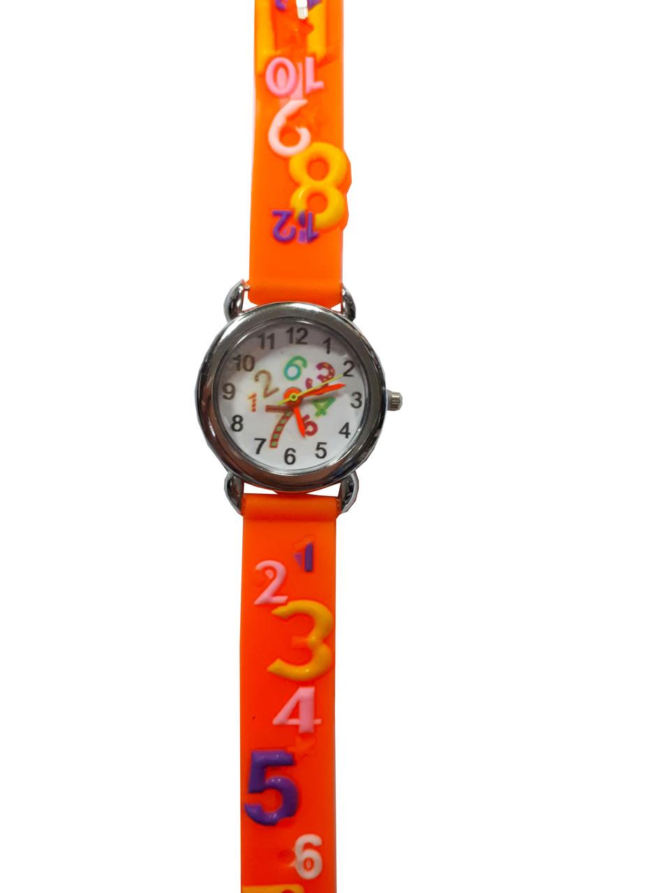 Часы детские Цифры Оранжевый