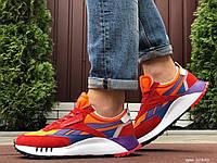 Кроссовки мужские в стиле Reebok красные с оранжевым \ синие, замшевые